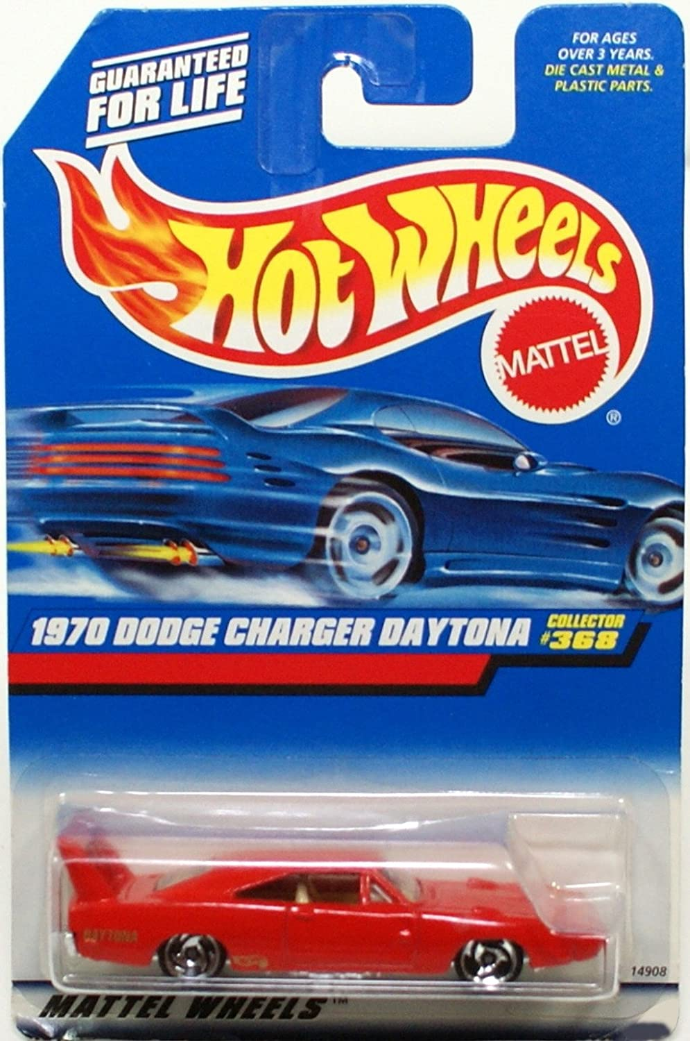 Mattel Hot Wheels 1998 1 64 Scale Red 1970 Dodge Charger Daytona Die Cast Car Collector  368