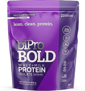 BiPro Bold Whey Protein Powder Isolate + Milk Protein Isolate, Chocolate Milkshake, 2 Pound