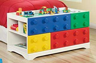 """Sauder 417932 Primary Street Play Table, L: 44.33"""" x W: 19.69"""" x H: 21.54"""", Soft White Finish"""