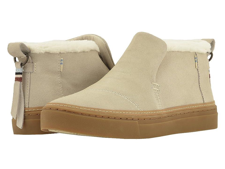 TOMS Paxton Water-Resistant Slip-Ons (Birch Suede/Faux Fur) Women