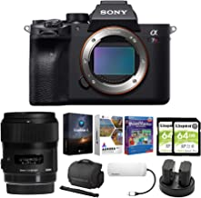 $4398 » Sony Alpha a7R IV Mirrorless Digital Camera Body with Sigma 35mm f/1.4 Lens and Software Suite Bundle (8 Items)