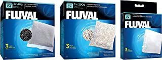 Fluval C4 Filter Media Bundle: Carbon 3-pk, Ammonia Remover 3-pk, Foam Pad 3-pk