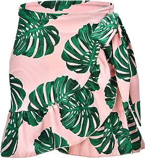 Women's Ruffle Sarongs Beach Wrap Swimwear Bikini Tankini Cover Up Swim Skirts Swimdress