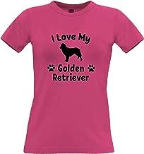 Dog Owner Womens Tee I Love My Golden Retriever