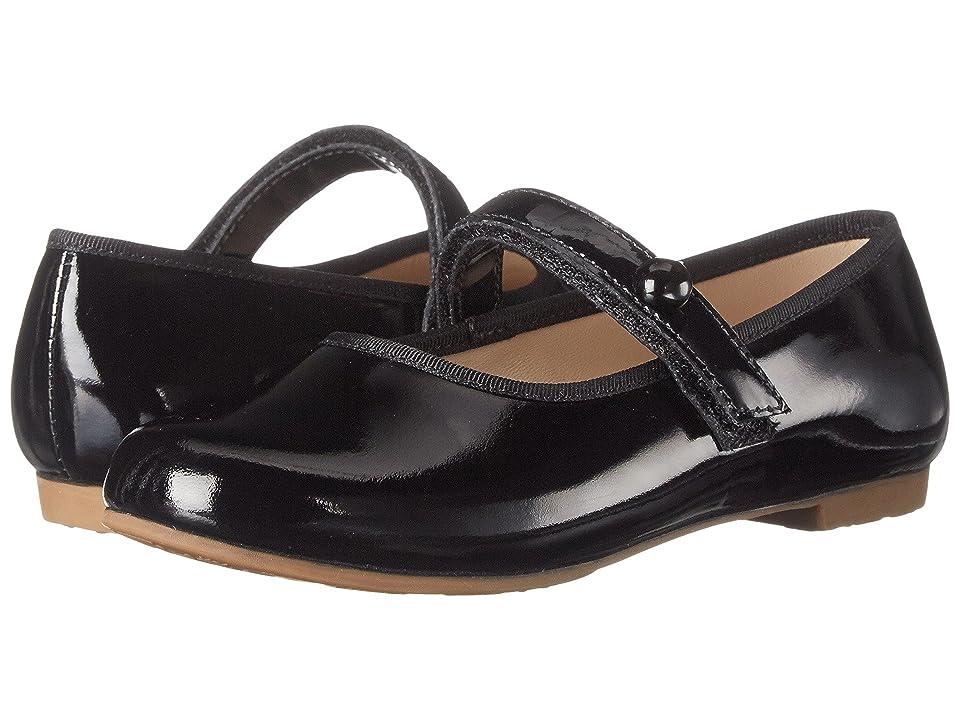 Elephantito Princess Flat (Toddler/Little Kid/Big Kid) (Patent Black) Girls Shoes