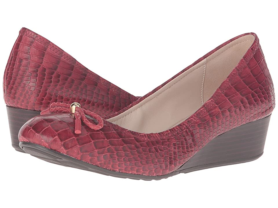 Cole Haan Tali Grand Lace Wedge 40 (Tango Red Croc Print) Women