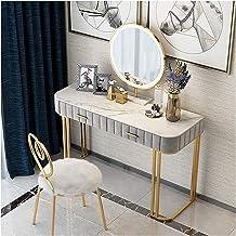 Makeup Desk with Drawers for Bedroom Makeup Vanity Two-Drawer Home Office Bedroom Computer Desk Vanity Table,Metal Modern ...