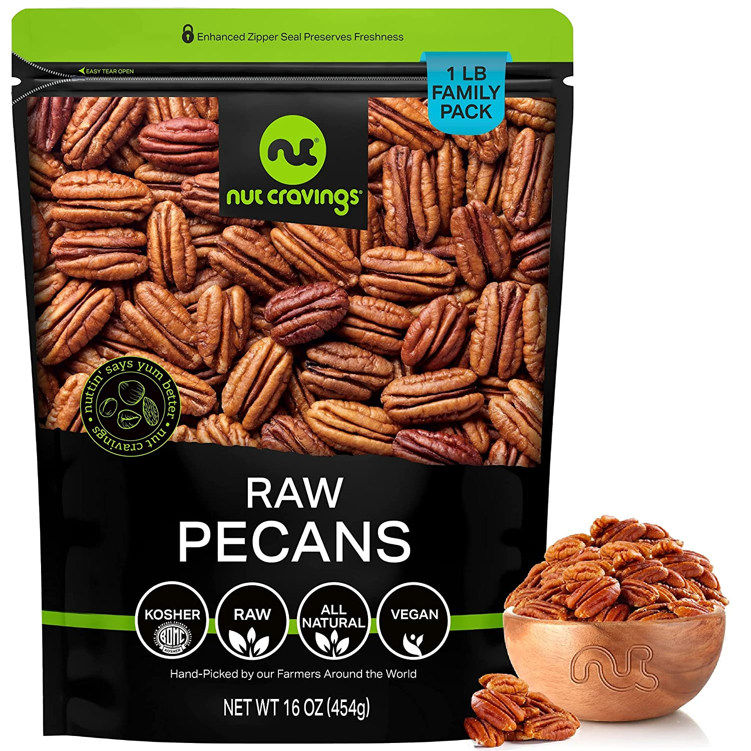 Raw Pecan Halves Pieces Super popular specialty store - No Organic Ranking TOP10 to 16oz Superior Shell