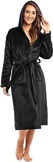 Spa Collection Plush Fleece Robe w/Hood Luxurious Warm Bathrobe