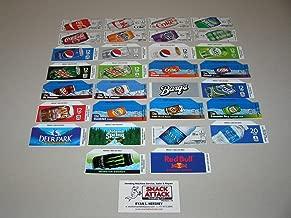 (30) Coke OR SODA Vending Machine 12oz CAN Vend Label Variety Pack /!
