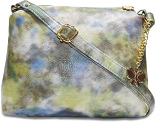 Butterflies Women Sling Bag (Green) (BNS 0686GN)