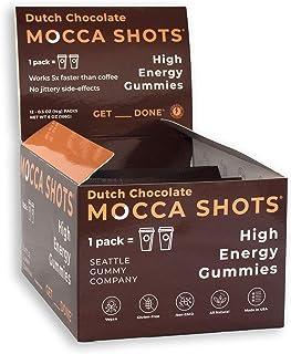 Mocca Shots – Dutch Chocolate 100mg Caffeine Gummies (12 Packs, 2 Per Pack) Coffee Energy Chew Gummy, Vegan, Gluten Free, ...