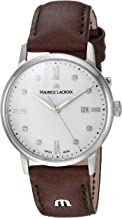 Maurice Lacroix Women's Eliros Stainless Steel Quartz Watch with Leather Calfskin Strap, Brown, 11 (Model: EL1094-SS001-150-1)
