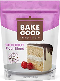 BakeGood Coconut Flour Blend, 2lb, 1-to-1 Replacement for All Purpose Flour, Gluten Free, Non-GMO, Kosher