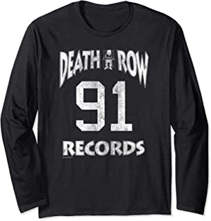 Death Row Records Athletic 91 Distressed Long Sleeve T-shirt