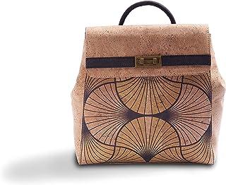 Tepcor Rucksackhandtasche Damen Schicke und edle Rucksacktasche aus Kork Perfekte Rucksack Handtasche für den Alltag