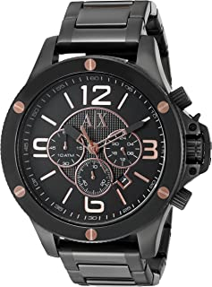 Armani Exchange Mens Black Wellworn Watch