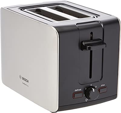 Bosch TAT6A913GB Comfort Line Toaster, Two Slice - Stainless Steel