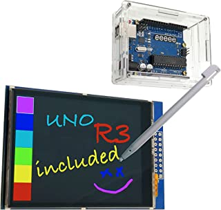 EEEEE ( 3 in 1 2.8 inches Color LCD (Touch Screen) & UNO R3 ATMEGA328P Board & Acrylic Transparent case with Touch pan, US...
