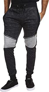 a31e91e790cea4 Encrypted Moto Men's Tapered Joggers with Pockets; Men's Athleisure Pants
