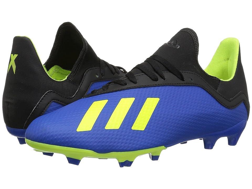 adidas Kids X 18.3 FG Soccer (Little Kid/Big Kid) (Blue/Yellow/Black) Kids Shoes