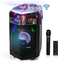Portable PA Speaker Powered Rechargeable Outdoor Speaker Microphone Set with Mic Talkover..