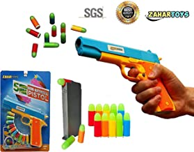 ZAHAR Toys Realistic Colt 1911 Toy Gun with 10 Colorful Soft Bullets, Ejecting Magazine , Slide Action for Training or Play