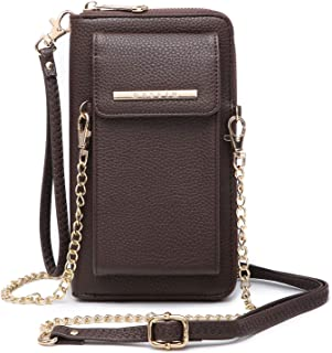 DASEIN All-In-One Crossbody Messenger Bag PU Leather Wallet Purse Single Shoulder Bag Cellphone Pouch (Fit iPhone X 8 7 Plus 6S/6 5S Samsung S8 S7 Edge etc)
