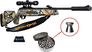 Hatsan Mod 125 Sniper Camo Vortex QE (Quiet Energy) .22 Caliber Air Rifle with Included 3-9X32 Scope and Pack of 250 Pellets Bundle (Pellets Caliber/Weight .22/12.96 Grains) and Wearable4U Cloth