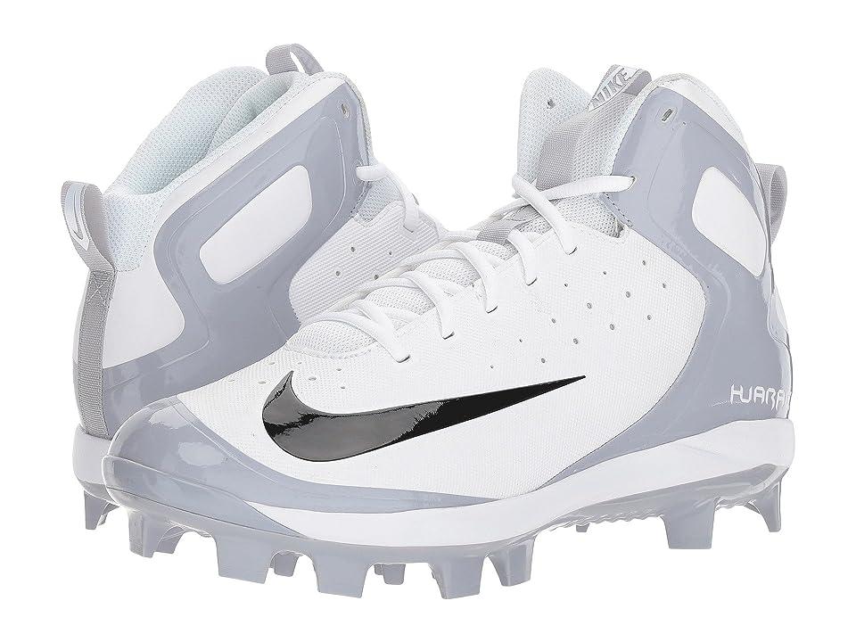 Nike Alpha Huarache Pro Mid MCS (White/Black/Wolf Grey) Men