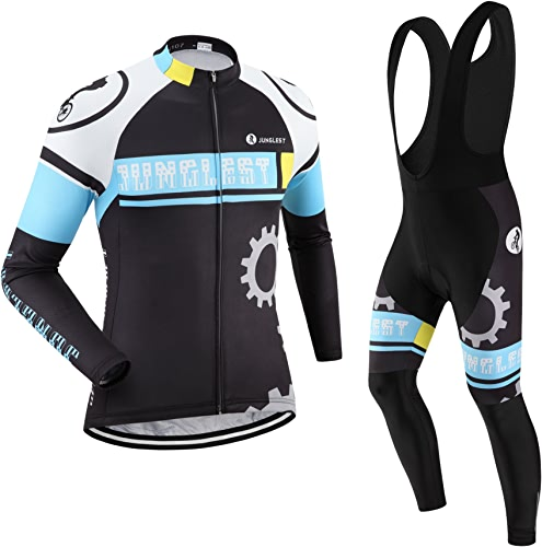 Maillot de Cyclisme Homme Manches Longues Jersey(S5XL,Option Cuissard,3D Coussin) N107