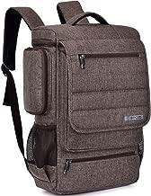 18.4 Inch Laptop Backpack,BRINCH Water Resistant Large Travel Backpack for Men Luggage Knapsack Computer Rucksack Hiking Bag College Backpack Fits 18-18.4 Inch Laptop Notebook Computer, Brown