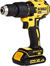 DeWalt 18V 13mm Compact Hammer Driver,Brushless, 2 x 1.5Ah batteries, charger and kit box, Yellow/Black, DCD778S2-GB, 3 Ye...