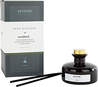 Reverie Reed Diffuser, Fragrances Essential Oil Aromatherapy Home Set, Woodland. (150ml – 5.1oz.)