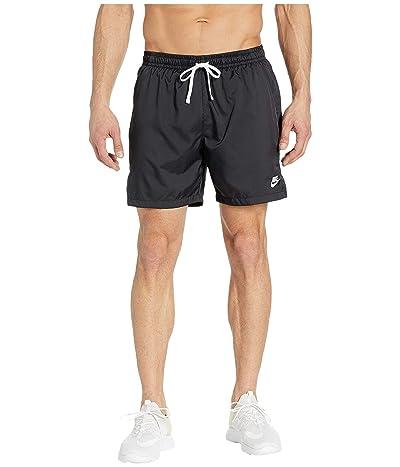 Nike NSW Woven Flow Shorts (Black/White) Men