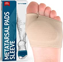 Metatarsal Pads - Gel Sleeves Forefoot Cushion Pads - Fabric Soft Foot Care Ball of Foot Cushions for Bunion Forefoot Blisters Callus Supports Metatarsalgia Pain Relief (1 Pair)