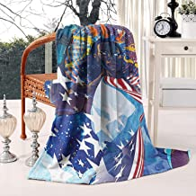 oONESIR Fleece Throw Blanket Solid Super Soft Blanket for Bed Sofa Couch 50 X 60 Inch-Movie Logo