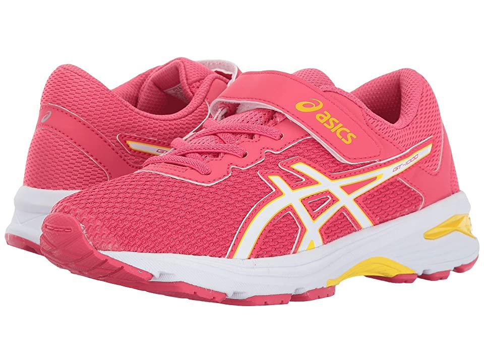 ASICS Kids GT-1000 6 PS (Toddler/Little Kid) (Rouge Red/White/Yellow) Girls Shoes