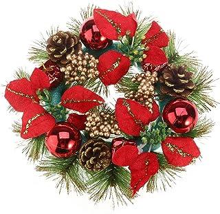 Rosa Roja YeahiBaby Guirnalda de Navidad con Adornos navide/ños de Adornos navide/ños de Bolas 1.8M