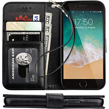 Cover for Leather Kickstand Extra-Protective Business Card Holders Wallet Cover Flip Cover iPhone 7 Plus Flip Case