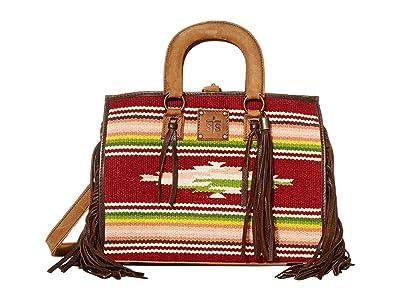 STS Ranchwear Buffalo Girl Serape Satchel (Maroon/Pink/Green) Bags