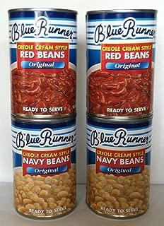Blue Runner Creole Cream Style Bean Sampler Four 16 Oz Cans