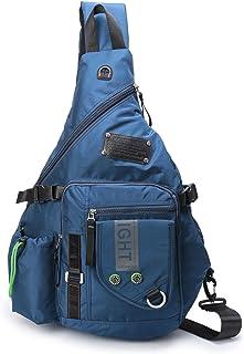 Large Sling Backpack, Sling Chest Bag Shoulder Crossbody Daypacks Fits 14.5-Inch Laptop Bookbag for Travel Outdoor Men Women