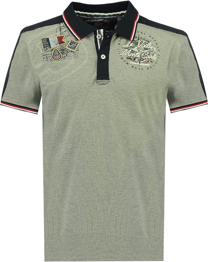 Geographical norway kalvin men, polo,maglietta da uomo con stampa classica, 100 % cotone, a maniche corte SR177H