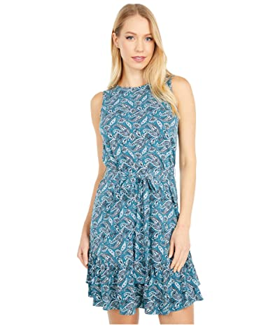 MICHAEL Michael Kors Arabesque Ruffle Dress (Spa Blue) Women