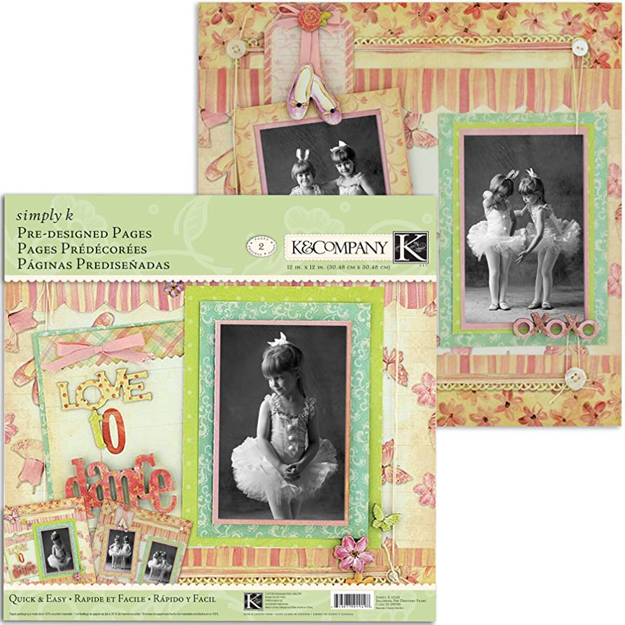 K&Company Simply K Ballerina Pre-Designed Pages qwzwikmnsptk5