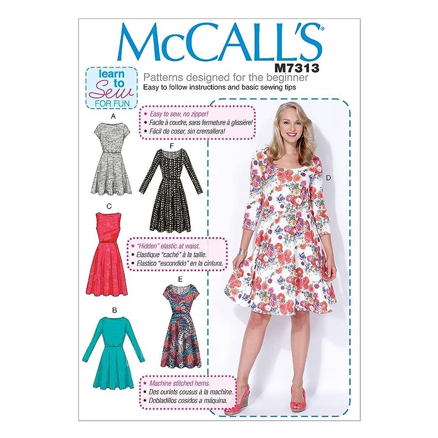 McCall's Patterns M7313 Misses'/Women's Flared Dresses, Size RR (18W-20W-22W-24W)