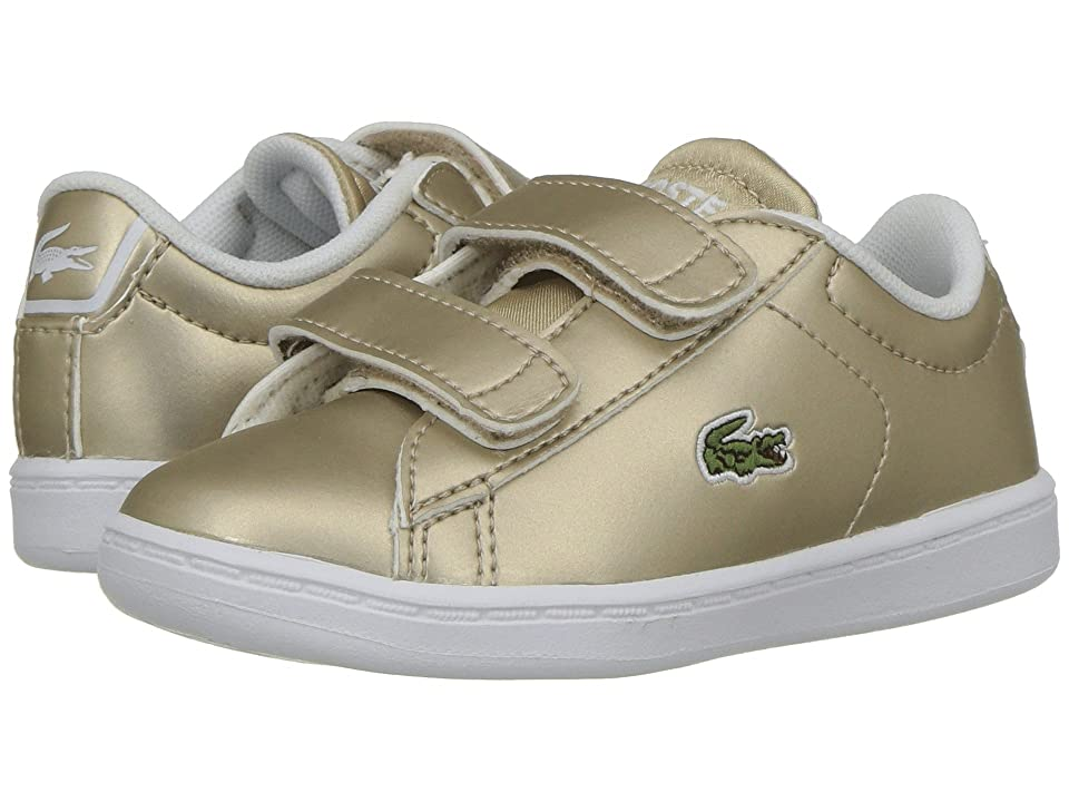 Lacoste Kids Carnaby Evo HL (Toddler/Little Kid) (Gold/White) Kids Shoes