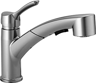 Delta Faucet Collins Single-Handle Kitchen Sink Faucet with Pull Out Sprayer and Magnetic Docking Spray Head, Arctic Stainless 4140-AR-DST