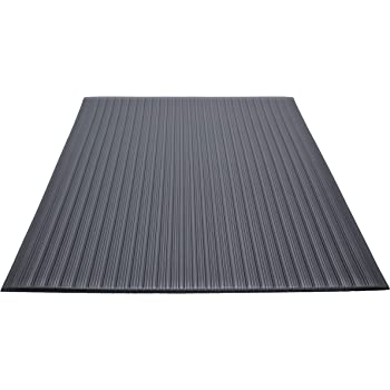 Guardian Air Step  Anti-Fatigue Floor Mat, Vinyl, 2'x3', Black, Reduces fatigue and discomfort, Can be easily cut to fit any space